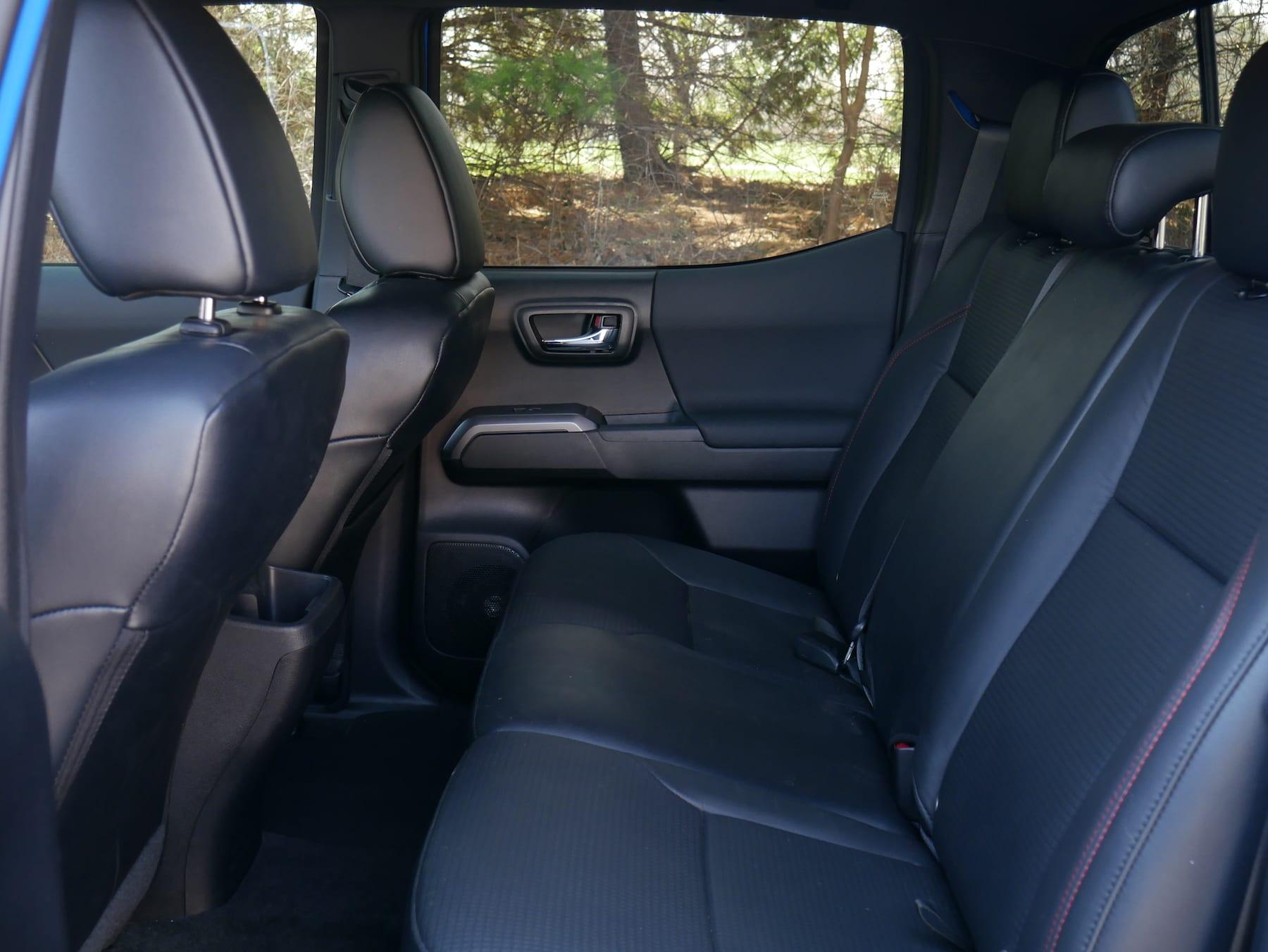 2019 Toyota Tacoma TRD Pro rear seats