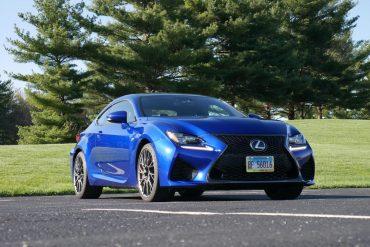 2019 Lexus RC F front three-quarter view low