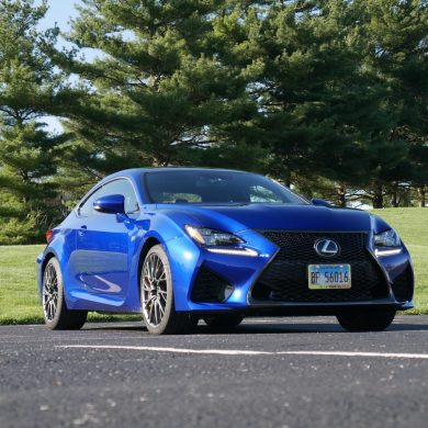 2019 Lexus RC F front three-quarter view low