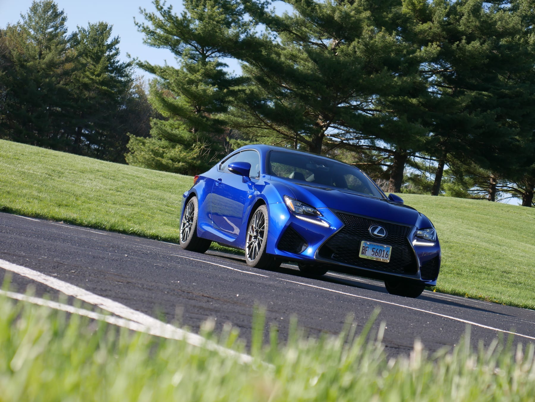 2019 Lexus RC F low front view