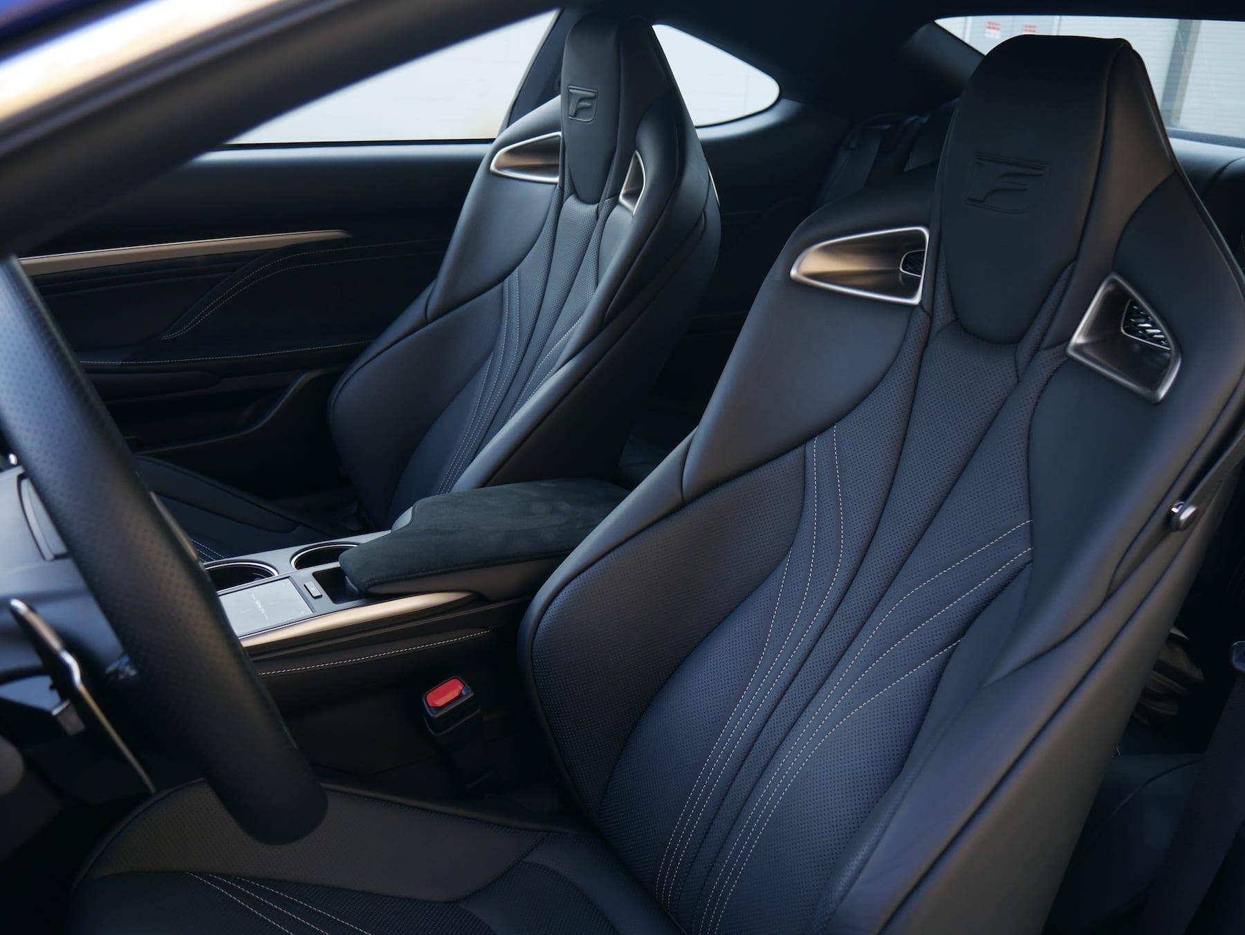 2019 Lexus RC F front seats