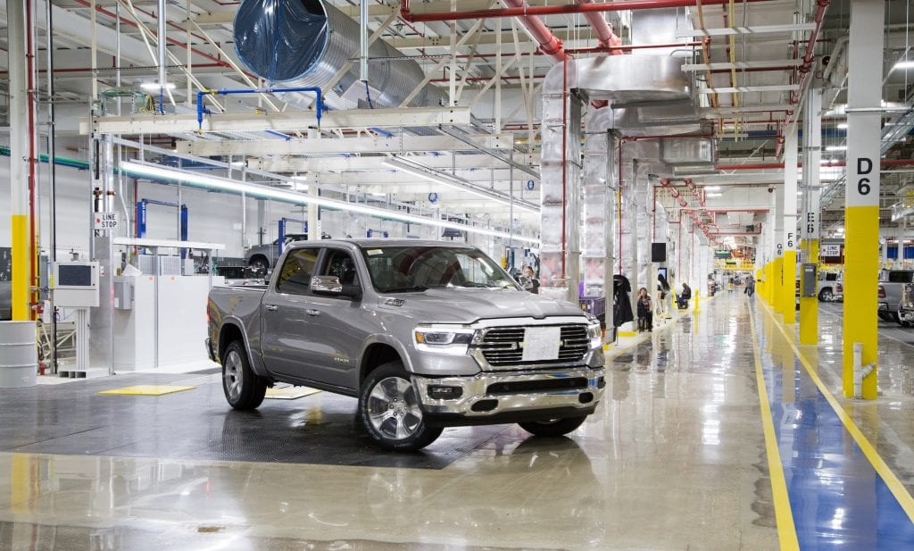 FCA Ram pickup manufacturing facility