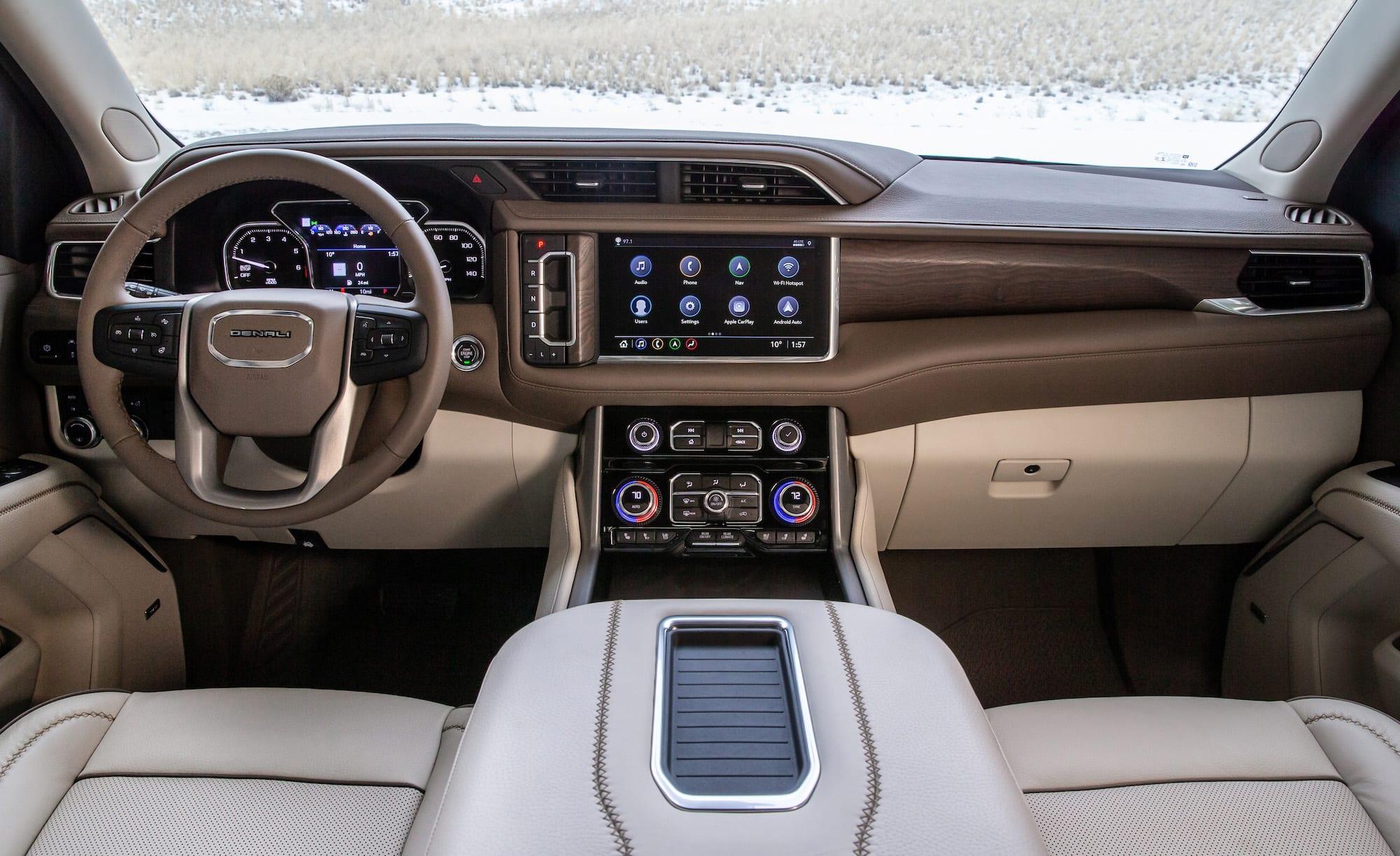 2021 GMC Yukon Denali interiors