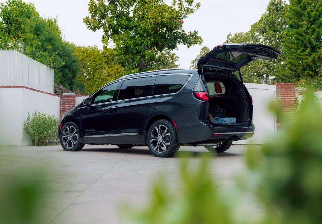 minivan with cargo space open
