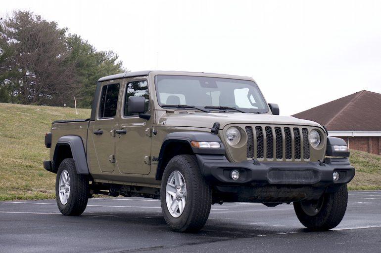 2020 Jeep Gladiator front three quarter