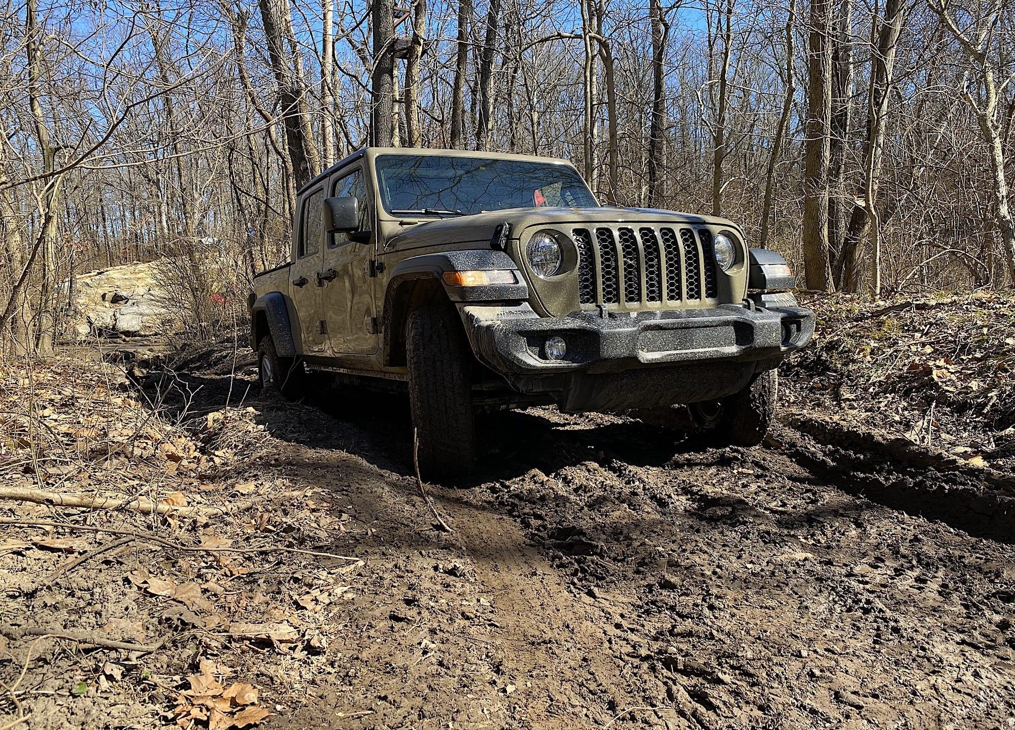 2020 Jeep Gladiator off roading