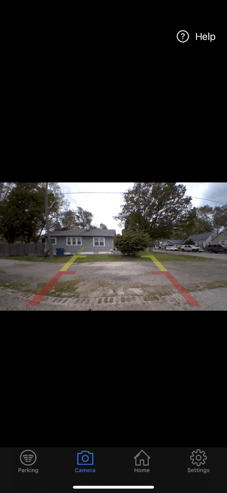 FenSens Wireless Backup Camera camera view