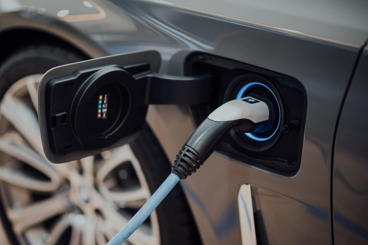 an electric car outlet for charging