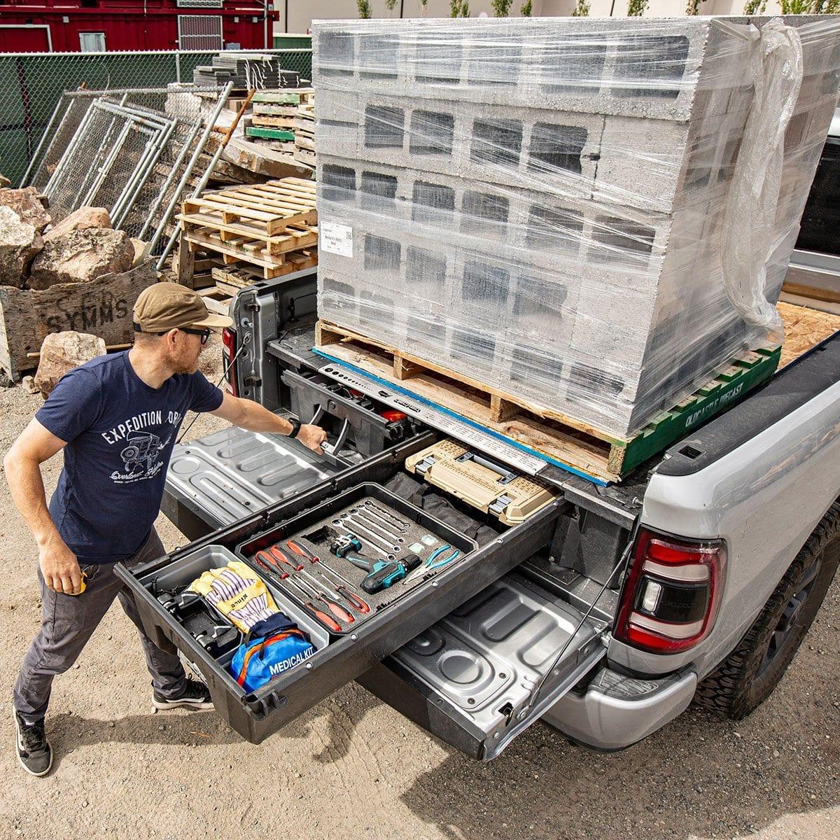 Truck drawer system