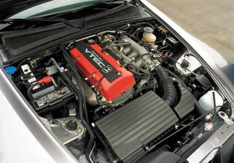 2000 Honda S2000 engine bay