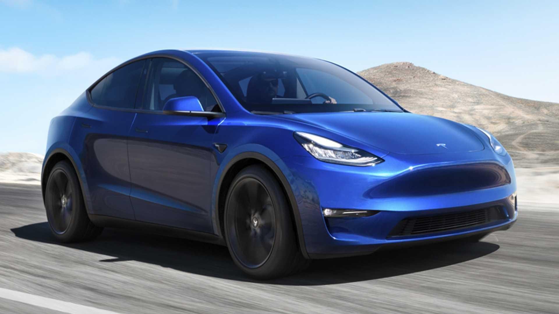 2021 Tesla Model Y In Motion
