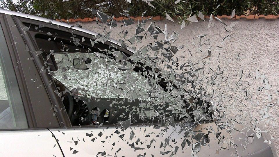 Car window shattering
