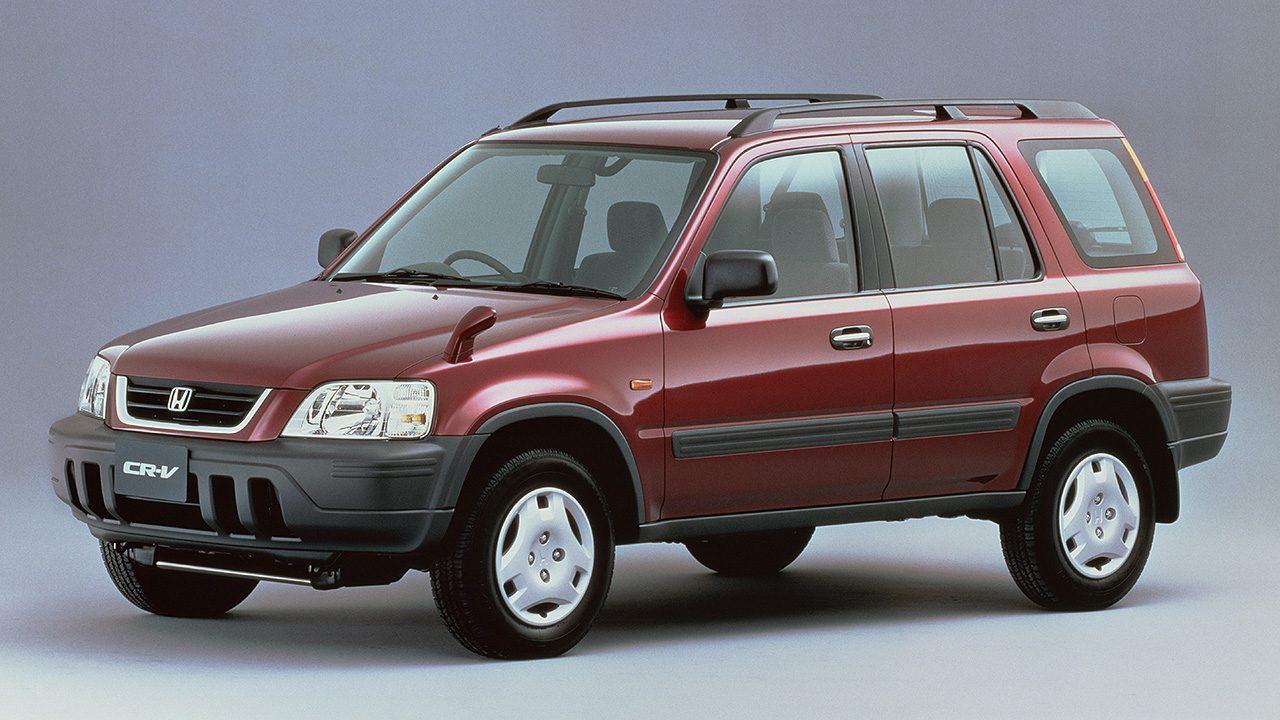 Red 1990's CRV