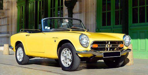 Yellow Honda S800