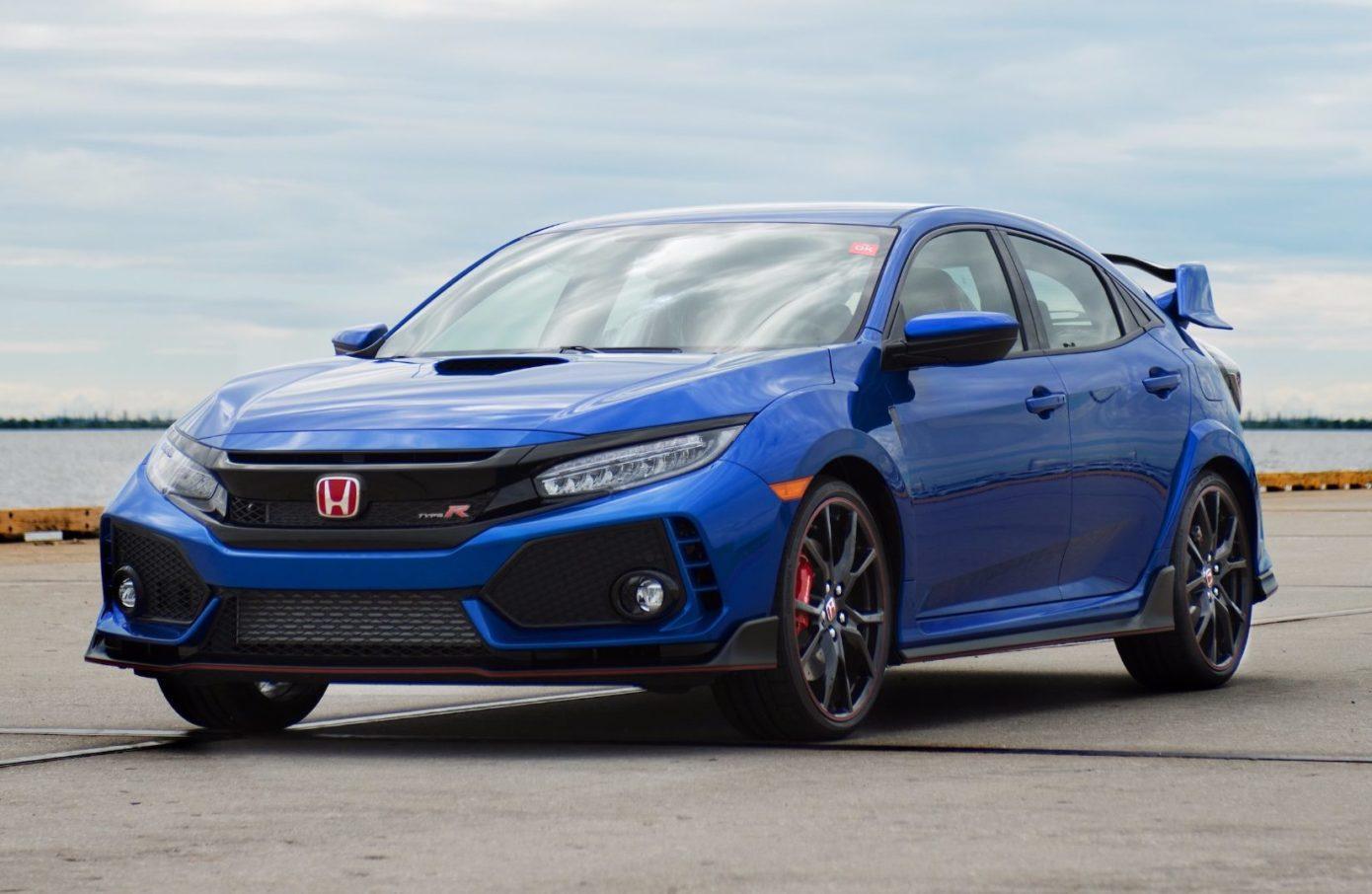 Blue Honda Civic Type R