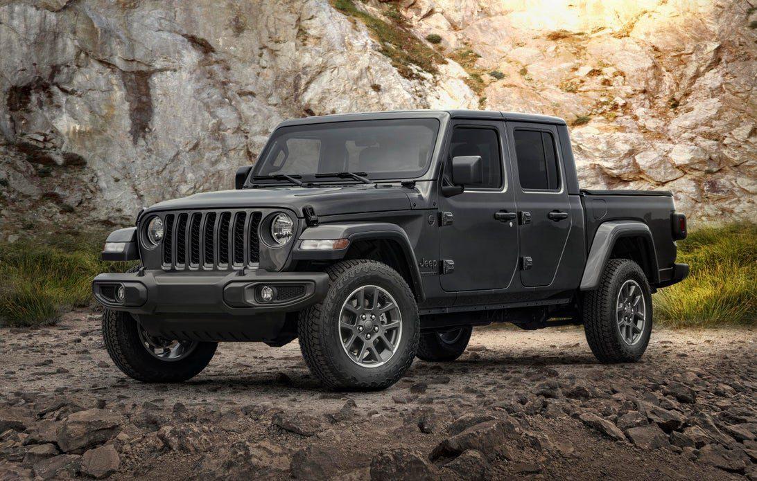 Gray 2021 Jeep Gladiator crew cab truck