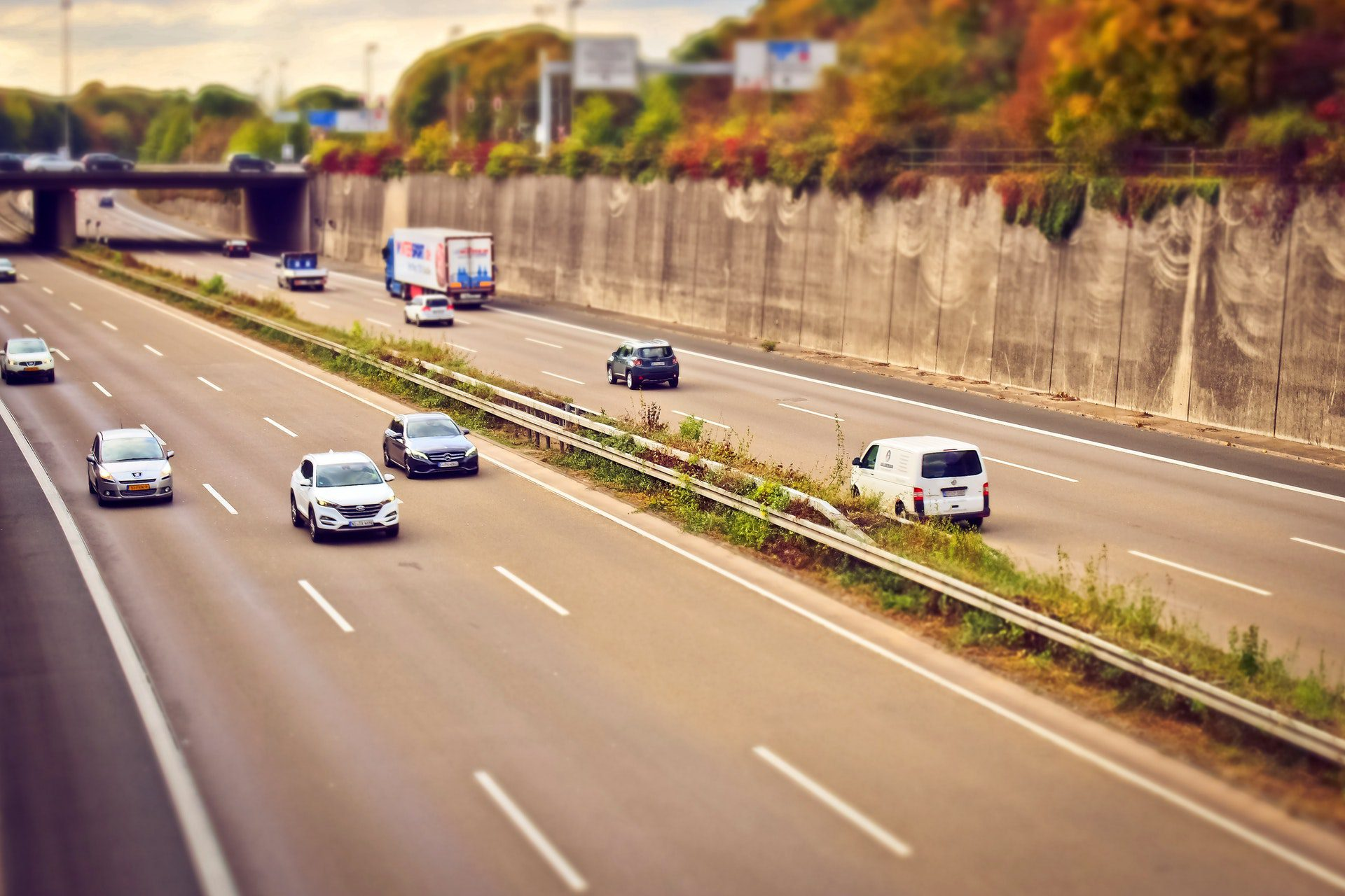 Daytime highway traffic